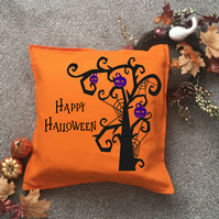 Spooky Halloween Cushion cover can be personalised, made to order