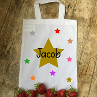 Stars personalised cotton party bags