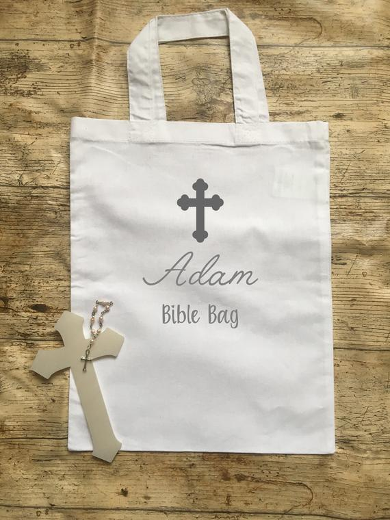 Personalised Bible cotton bag tote