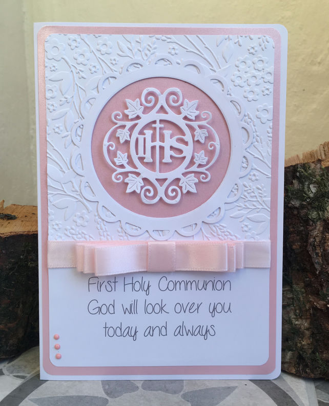 First Holy Communion personalised card made to order