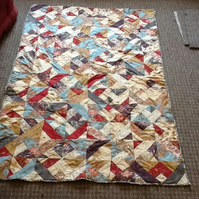 Beautiful Patchwork Jelly Roll Quilt,Throw .