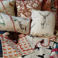 Stag,William Morris ,Pheasant Cushions