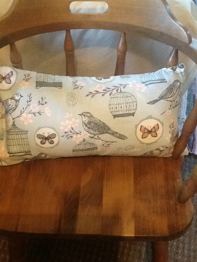 "Shabby Chic Birdcage Cushion 20"" x12"""