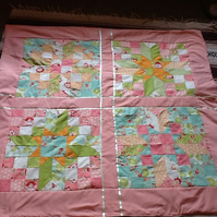 Beautiful Pink  Jelly Roll Patchwork Star  Lapquilt ,throw.