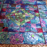 Gorgeous Kaffe Fassett Patchwork Throw,Lapquilt
