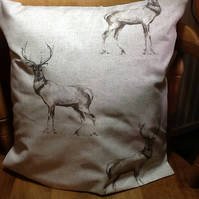 "Stag Print Cushion 16"" x16""app"