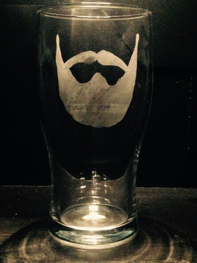 Beard pint glass