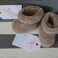 Alpaca yarn booties