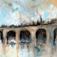 'Near The Old Viaduct' original acrylic painting