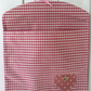 Pink Gingham Peg Bag with Heart