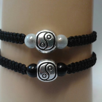 Yin yang bracelet couples set
