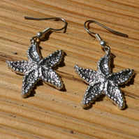Starfish pewter earrings