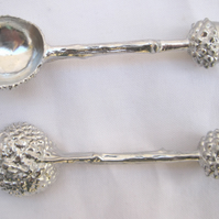 Solid pewter 'Acorn' spoon