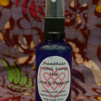 Love and Passion Crystal Energy Mist with Gem Essence and Essential Oils