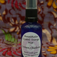 Crown Chakra Crystal Energy Mist with Gem Essence and Essential Oils