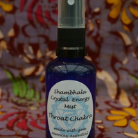 Throat Chakra Crystal Energy Mist with Gem Essence and Essential Oils