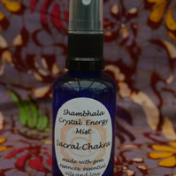 Sacral Chakra Crystal Energy Mist with Gem Essence and Essential Oils