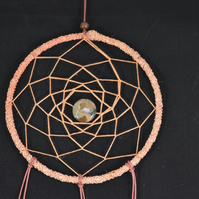 Dream Catcher made from vintage recycled materials and Cruelty Free Feathers!