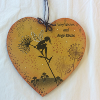 Seeing is believing - magical fairy mdf heart