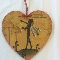 Freya - magical fairy mdf heart