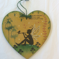 Sky - magical fairy mdf heart