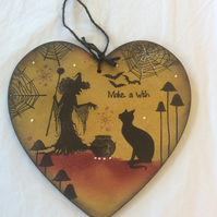 Willow witch - magical fairy mdf heart