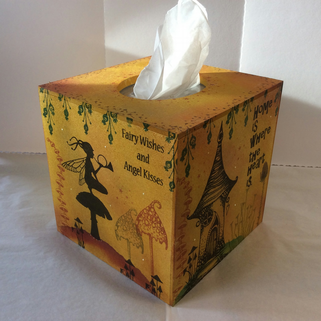 Magical fairy MDF tissue box cover.