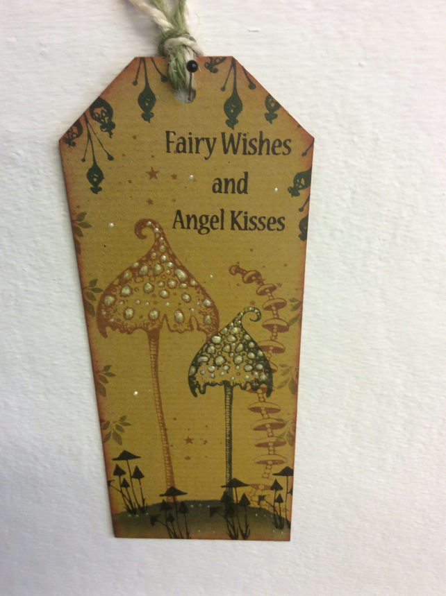 Toadstool-Magical fairy bookmark