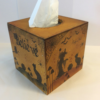 Magical witch MDF tissue box cover
