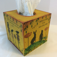 Woodland animal Mdf tissue box cover