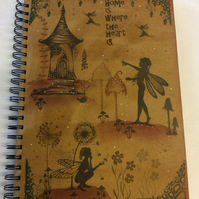 Magical fairy A4 notebook