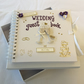 Personalised wedding guest book in a luxury gift box