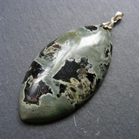 Pendant in Sterling Silver with Camouflage Jasper Gemstone