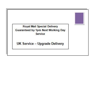 Next Working Day Special Delivery Upgrade - UK Service
