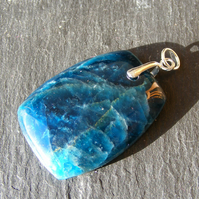 Pendant in Sterling Silver Featuring Beautiful Apatite Gemstone
