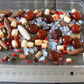Glass and Gemstone Bead Mix in Browns and Reds - Coral Jasper Agate Opalite