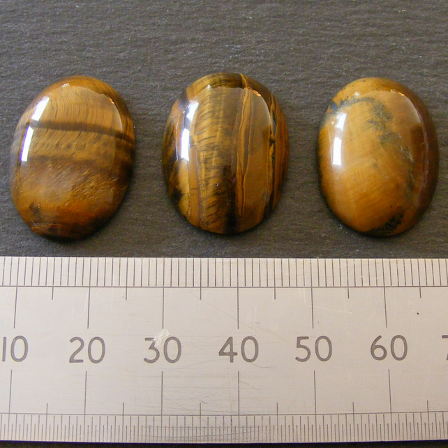 1 x Large Tigers Eye Oval Cabochon 25 x 18 mm For Jewellery Making