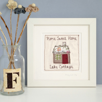 Personalised House Picture, Framed House warming Or New Home Gift
