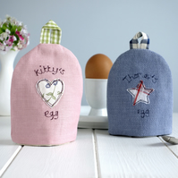 Personalised Fabric Egg Cosy, Boiled Egg Cup Cosy