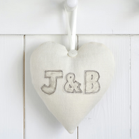 Personalised Couples Initials Heart Decoration, Wedding Or Anniversary Gift