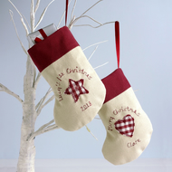 Personalised Christmas Stocking Decoration, Christmas Tree Decoration