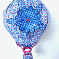 Large Round Whimsical Patterned 3D Hot Air Balloon Model