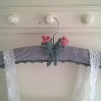 Handmade Rose Bud Ladies Coat Hanger