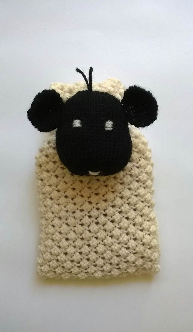 Hand Knitted Sheep Hot Water Bottle Cover Folksy