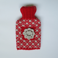 Scandi Ski hot water bottle cover