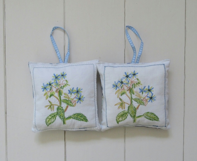 English lavender bags - blue aster