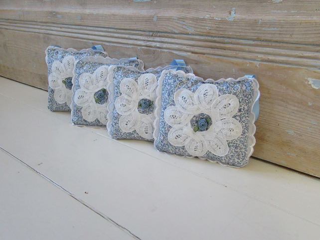 Liberty print fabric English lavender sachet bags