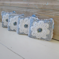 Liberty print fabric English lavender bags