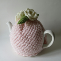 Sweetest sorbet rose coloured tea cosie