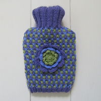 Chocolate wrapper tweed hot water bottle cover